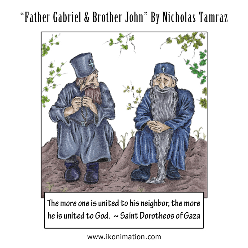 Father Gabriel and Brother John comic strip