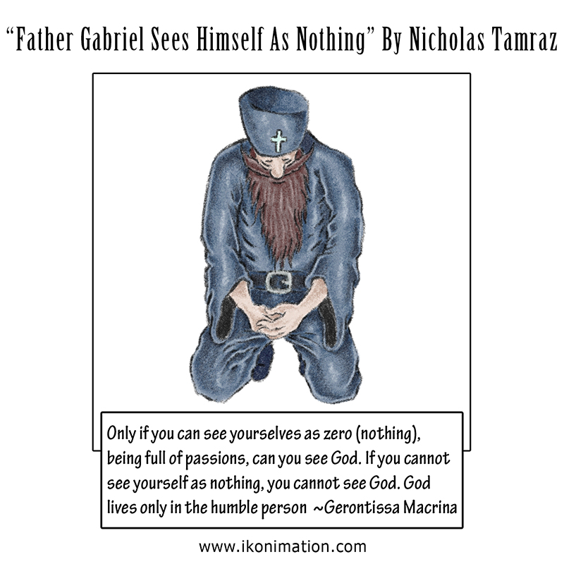 Father Gabriel Sees Himself As Nothing Comic Strip by Nicholas Tamraz
