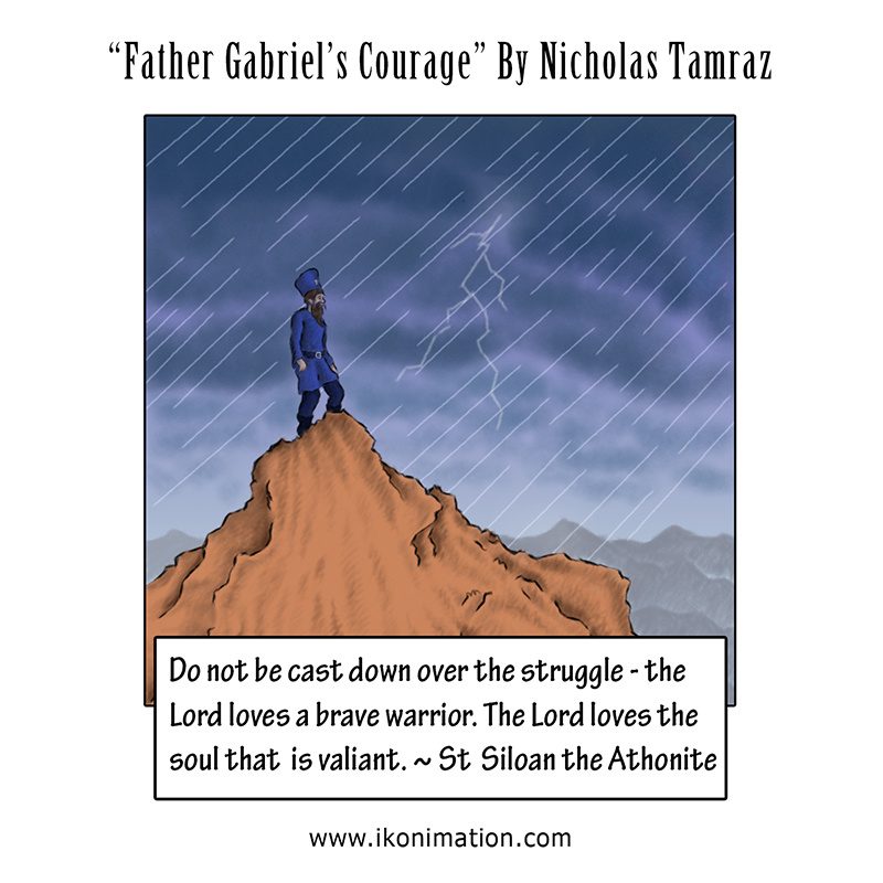 Father Gabriel's Courage comic strip