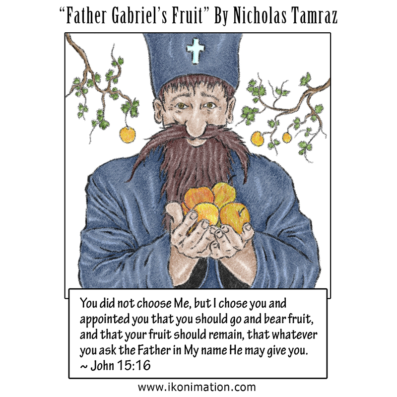 Father Gabriel's Fruit Comic Strip by Nicholas Tamraz