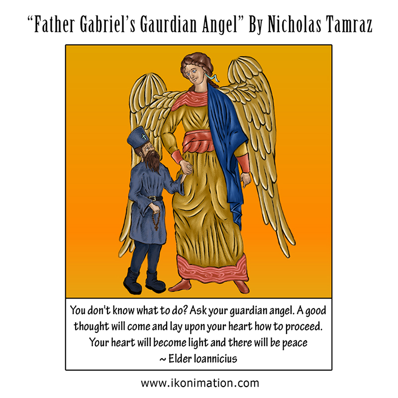 Father Gabriel's Guardian Angel comic strip