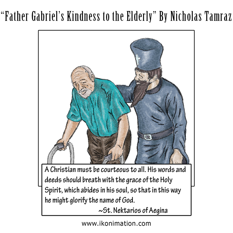 Father Gabriel's Kindness to the Elderly Comic Strip