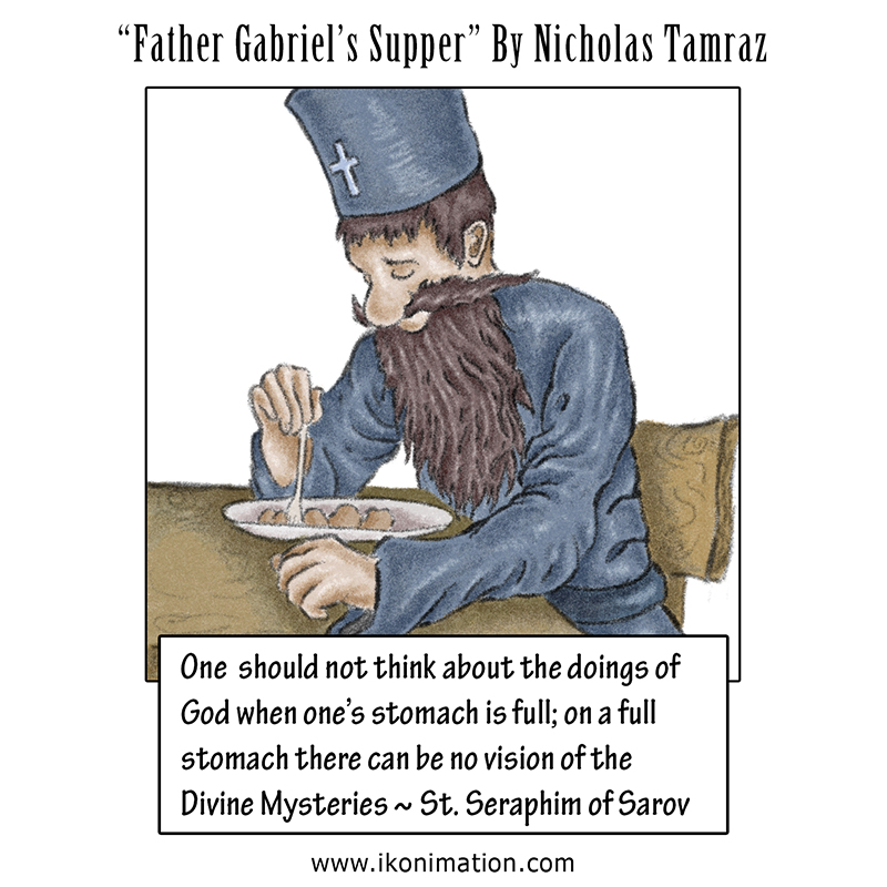 Father Gabriel's Supper comic strip