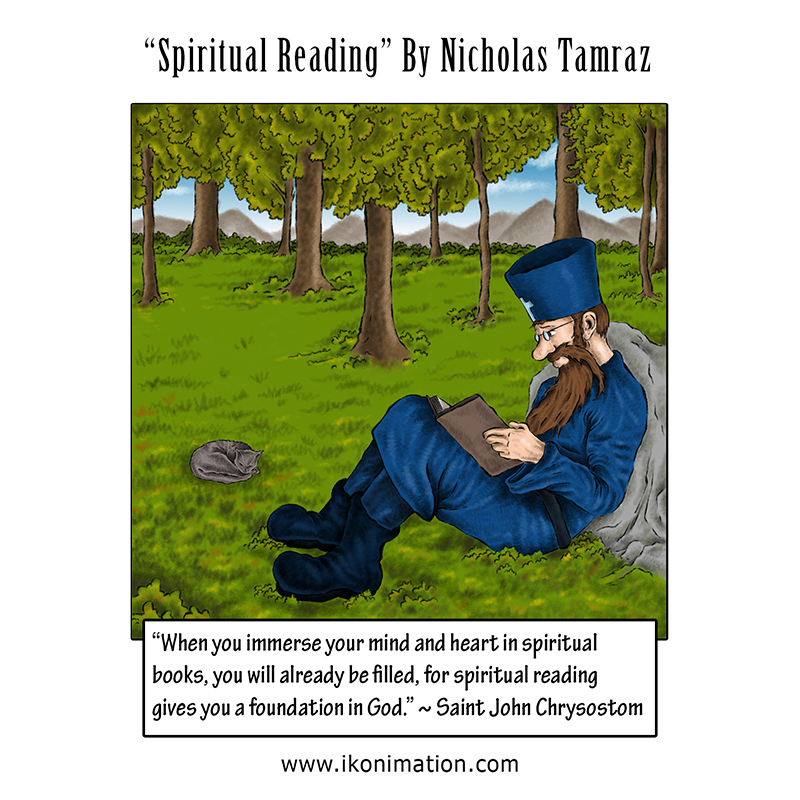 Spiritual Reading Comic Strip by Nicholas Tamraz