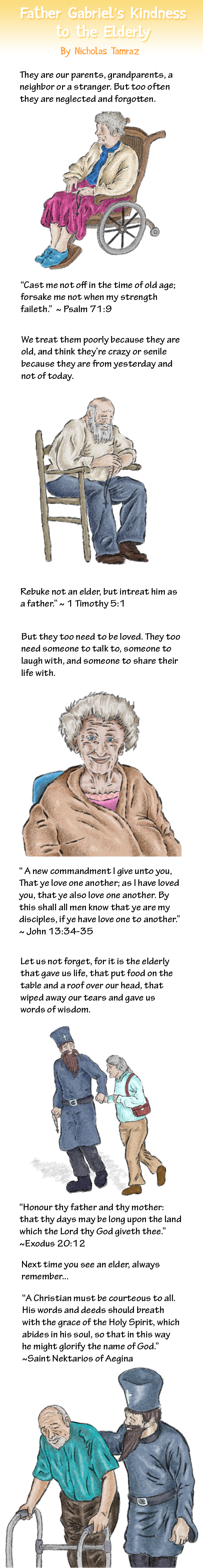 Father Gabriel's Kindness to the Elderly webcomic
